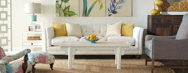 SOHO Interiors is your source for designs like the Stevens sofa by Robin Bruce. A button-tufted blank canvas in bright & light linen, the Stevens equals relaxed style & vintage...